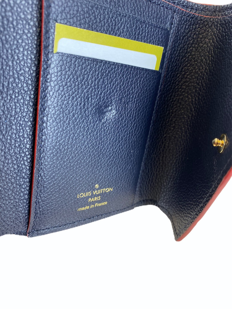 Louis Vuitton Navy Empreinte Victorine Wallet  - As Seen on Instagram 2/9/20
