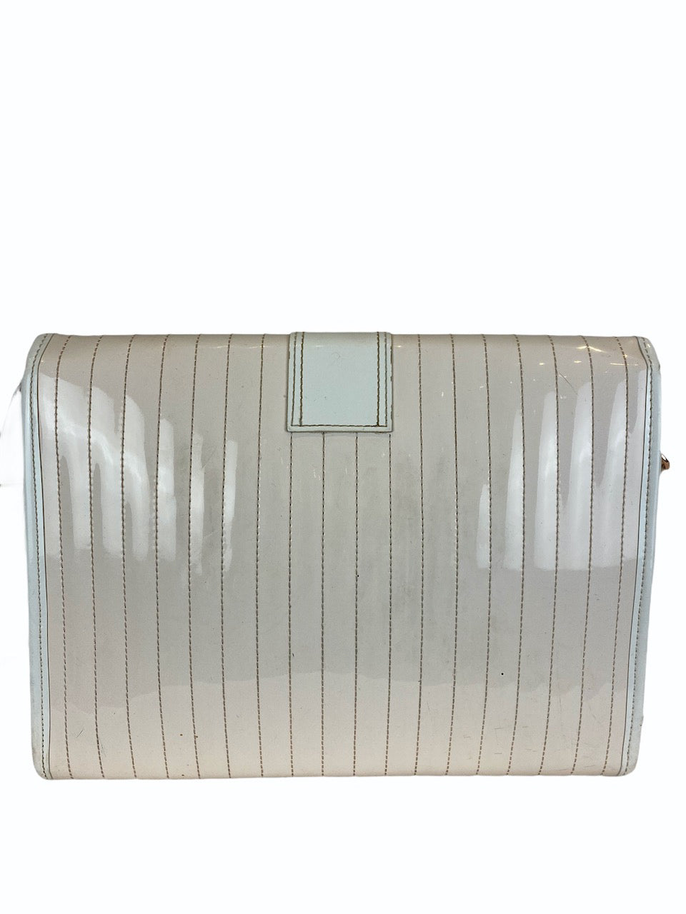 Ted Baker Cream Patent Leather Shoulder Bag - As Seen On Instagram