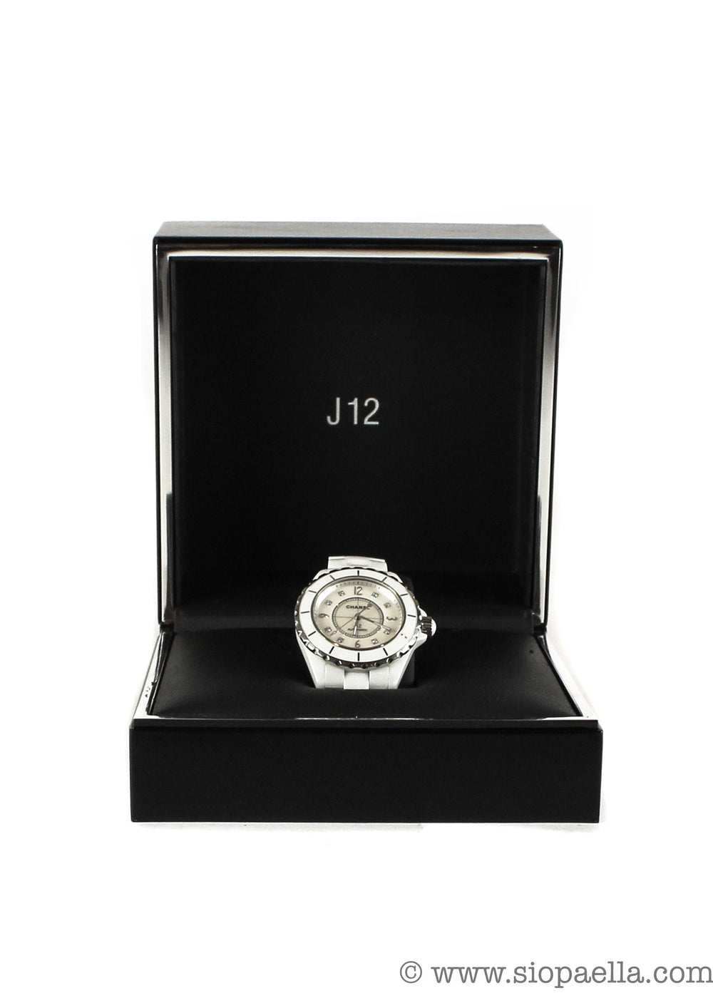 Chanel White Ceramic and Diamond J12 Watch - Siopaella Designer Exchange