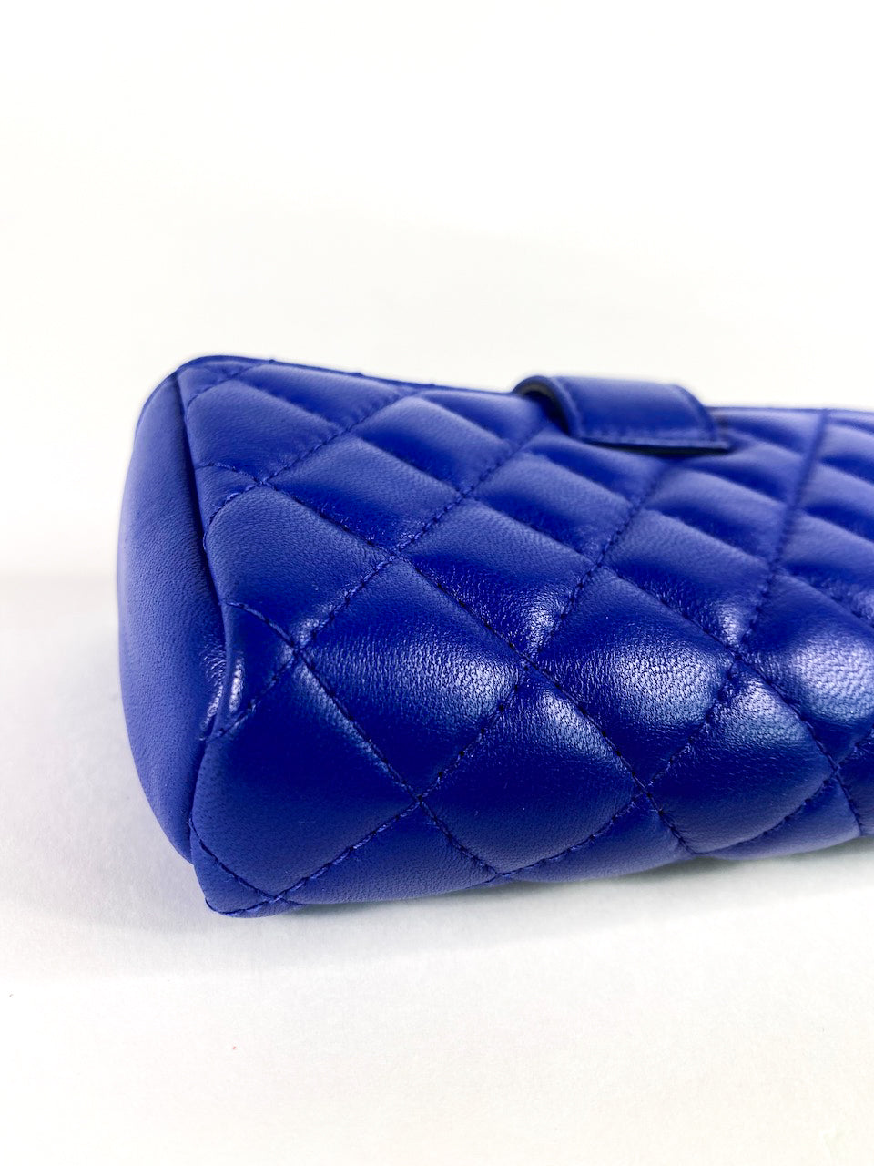 Chanel Blue Lambskin Leather Phone Holder/Pouch - As Seen on Instagram Live 12/07/20 - Siopaella Designer Exchange