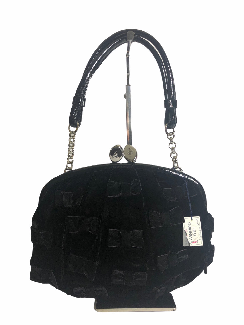 LuLu Guinness Black Velvet Shoulder Bag - As Seen on Instagram 29/11/20