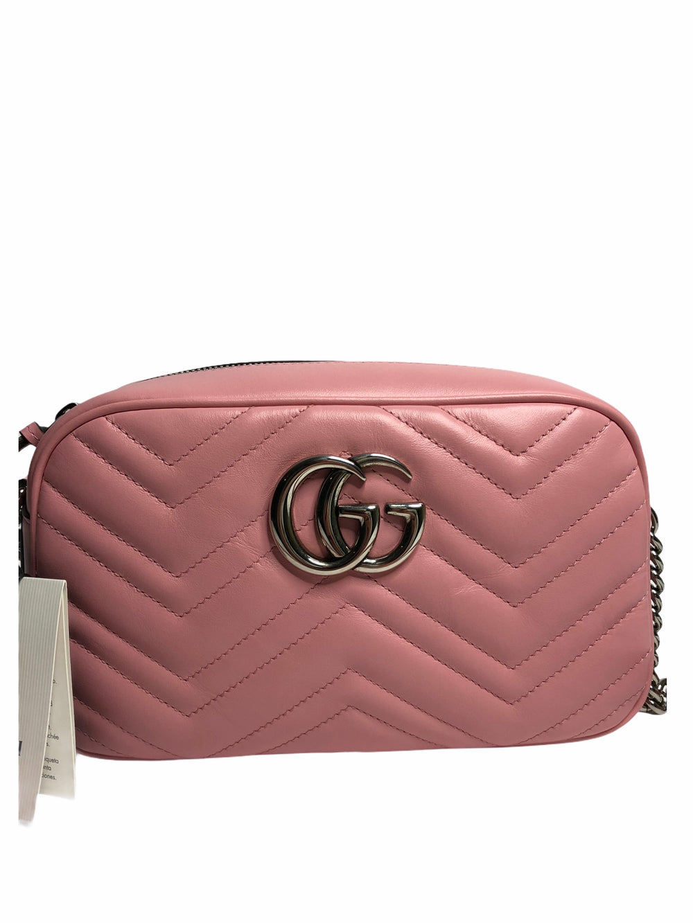 Gucci Bubble Gum Pink Leather Marmont - As Seen on Instagram 4/11/2020