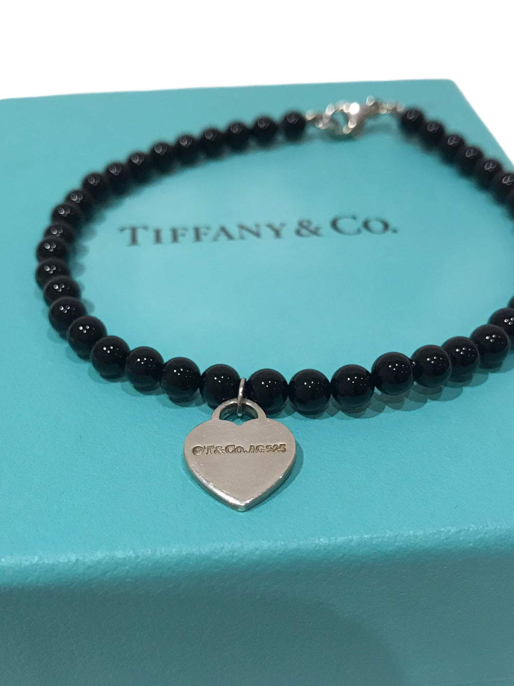 Tiffany & Co. Black Bead Bracelet - As Seen on Instagram