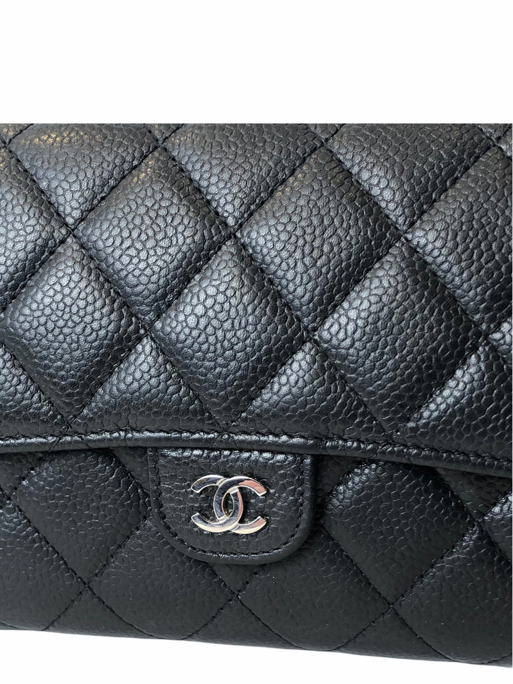 Chanel Black Caviar Leather Multi Wallet