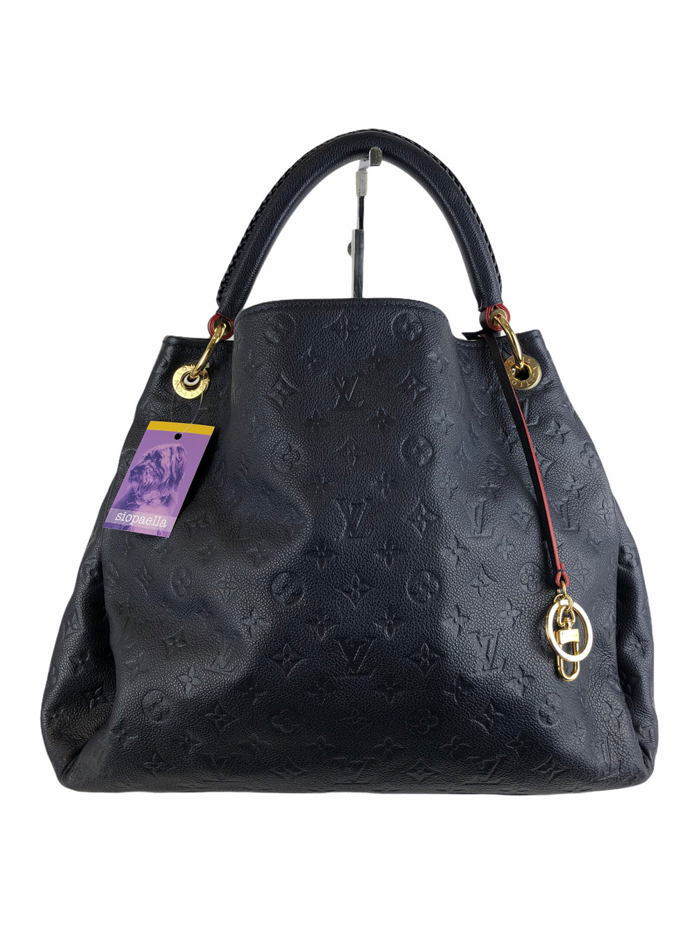 Louis Vuitton Navy Empreinte Leather 'Artsy' GM Hobo