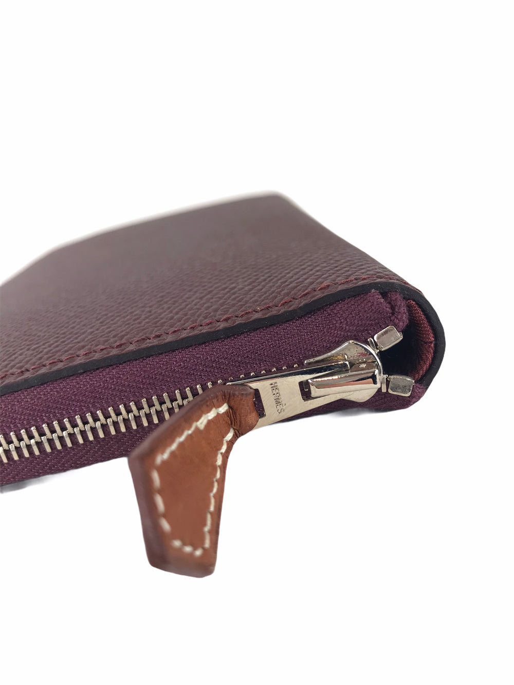 Hermes Bordeaux/Burgundy Leather