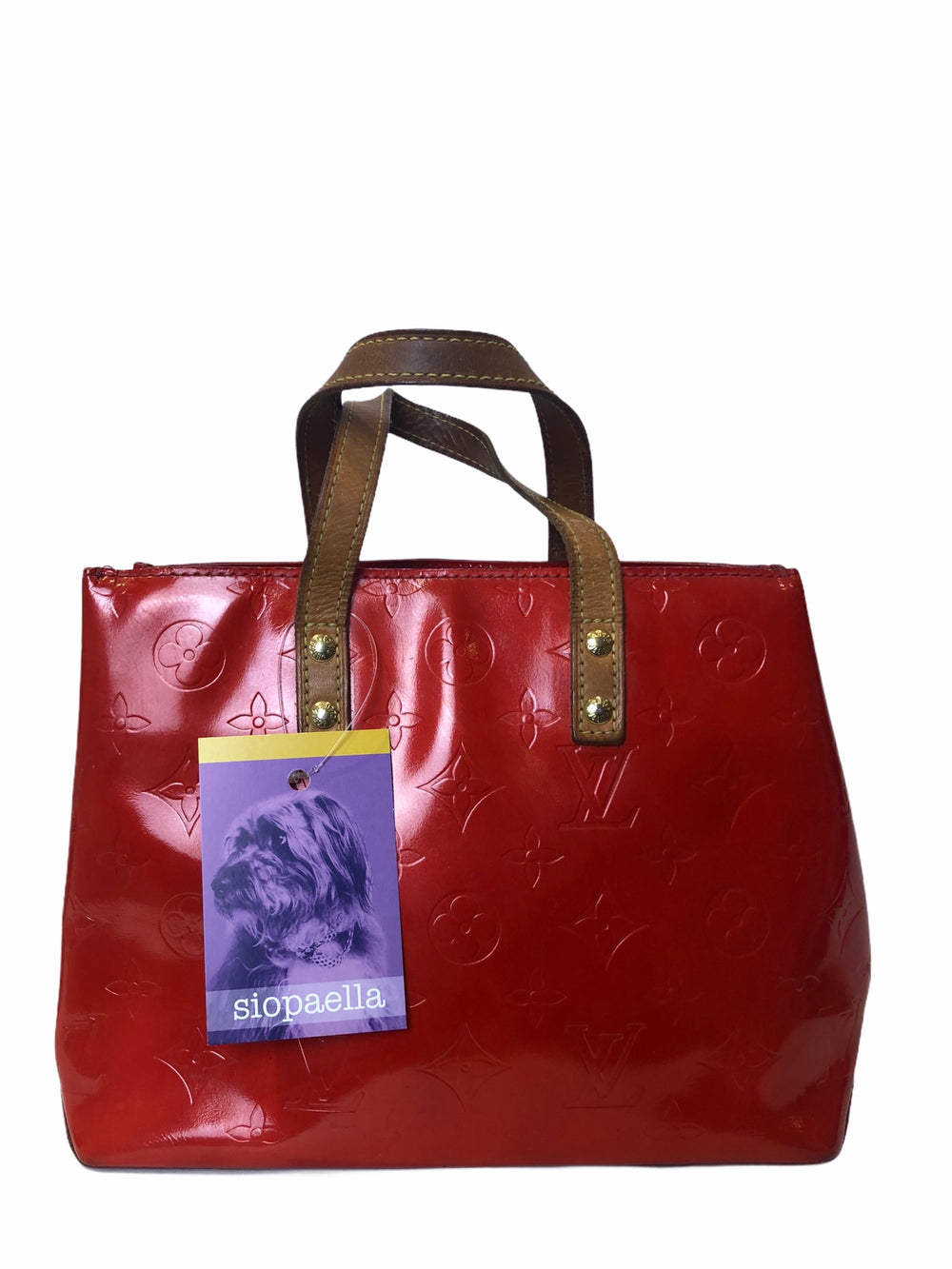 Louis Vuitton Patent Red Vernis Leather Tote