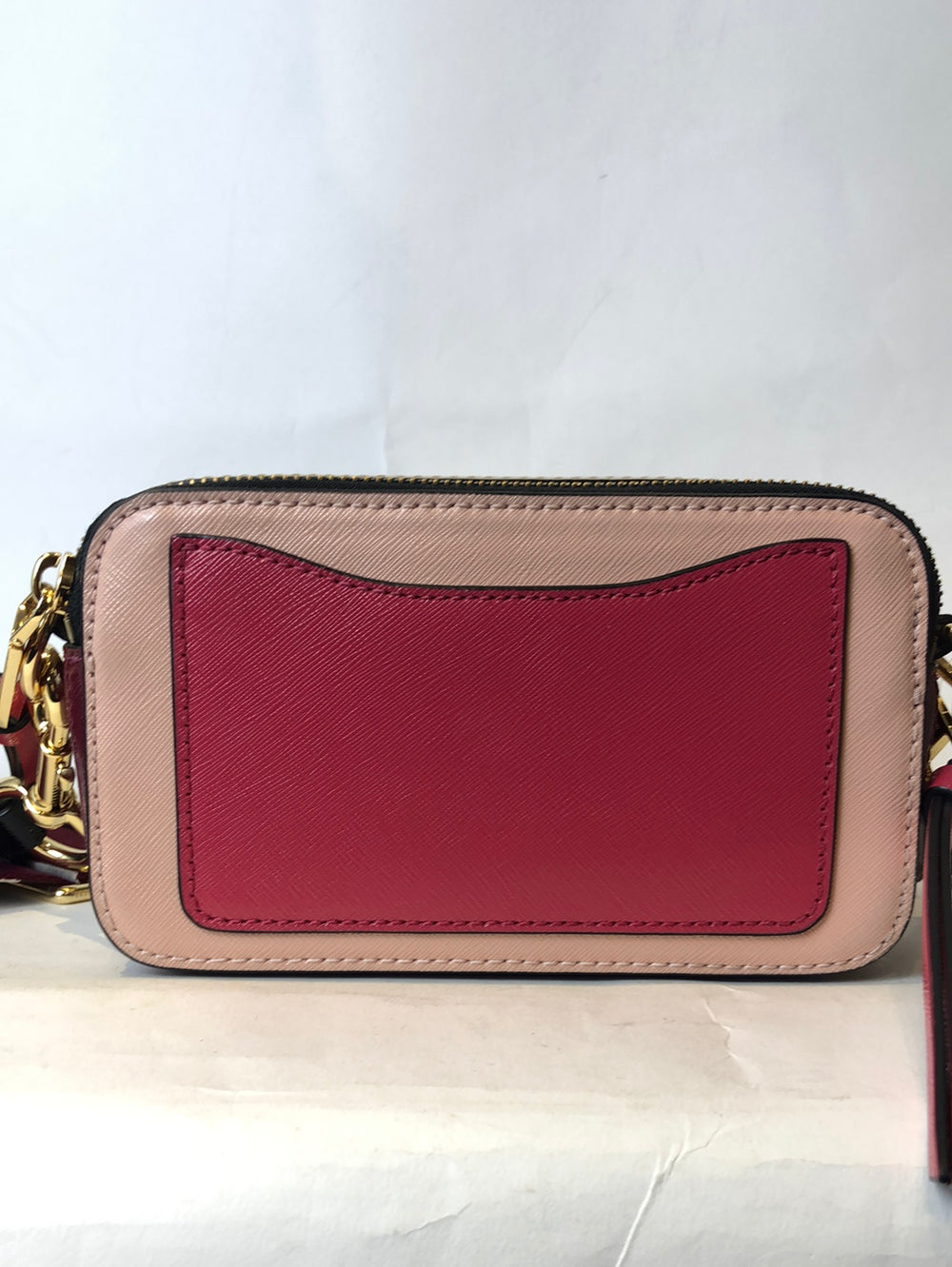 Marc Jacobs Peach & Wine Red Leather 'Snapshot' Crossbody - As Seen on Instagram  13/1/21