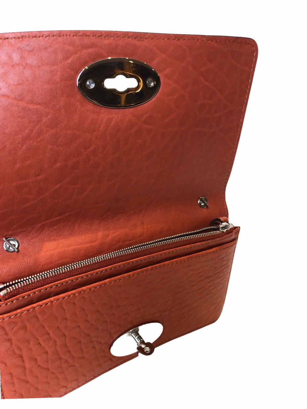 Mulberry Burnt Orange Leather Crossbody - As Seen on Instagram