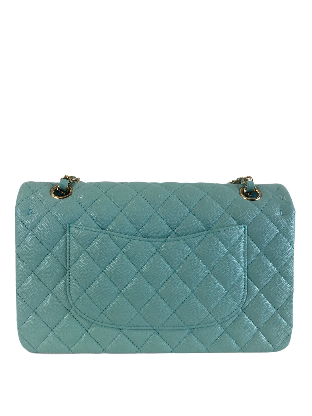 Chanel Turquoise Caviar Leather Medium Double Flap - As Seen on Instagram 21/10/2020