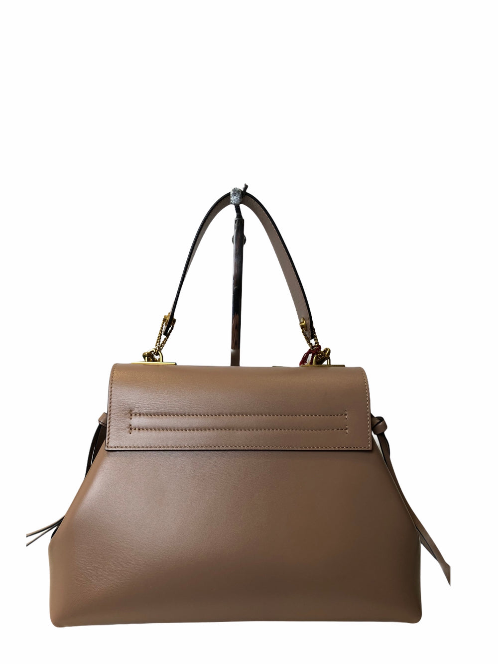 Valentino Tan Leather VRing Tote Handbag - As Seen on Instagram