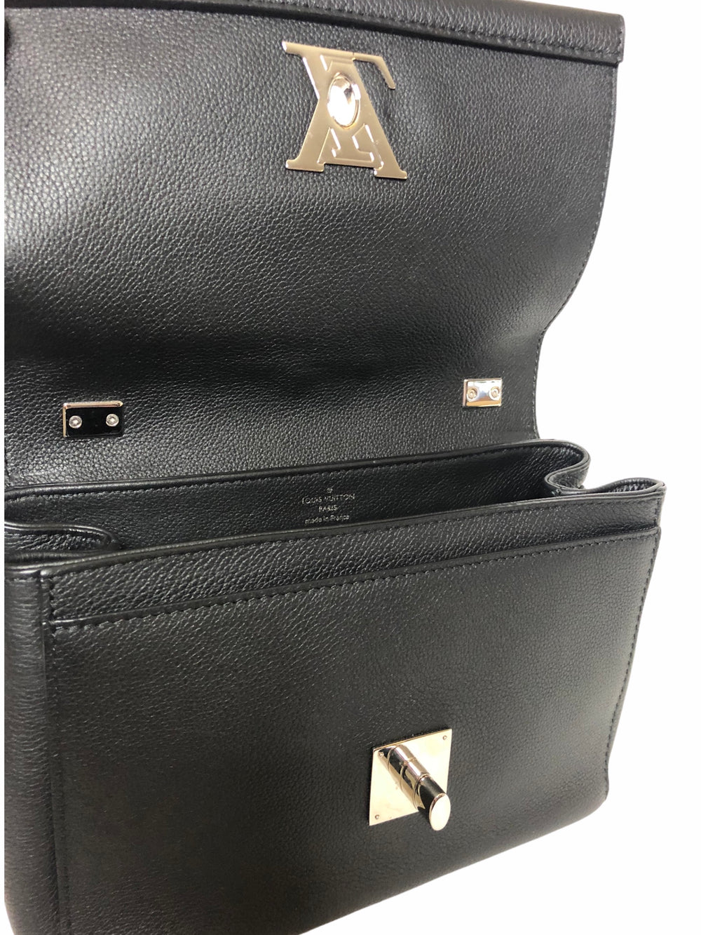 Louis Vuitton Black Calfskin Leather