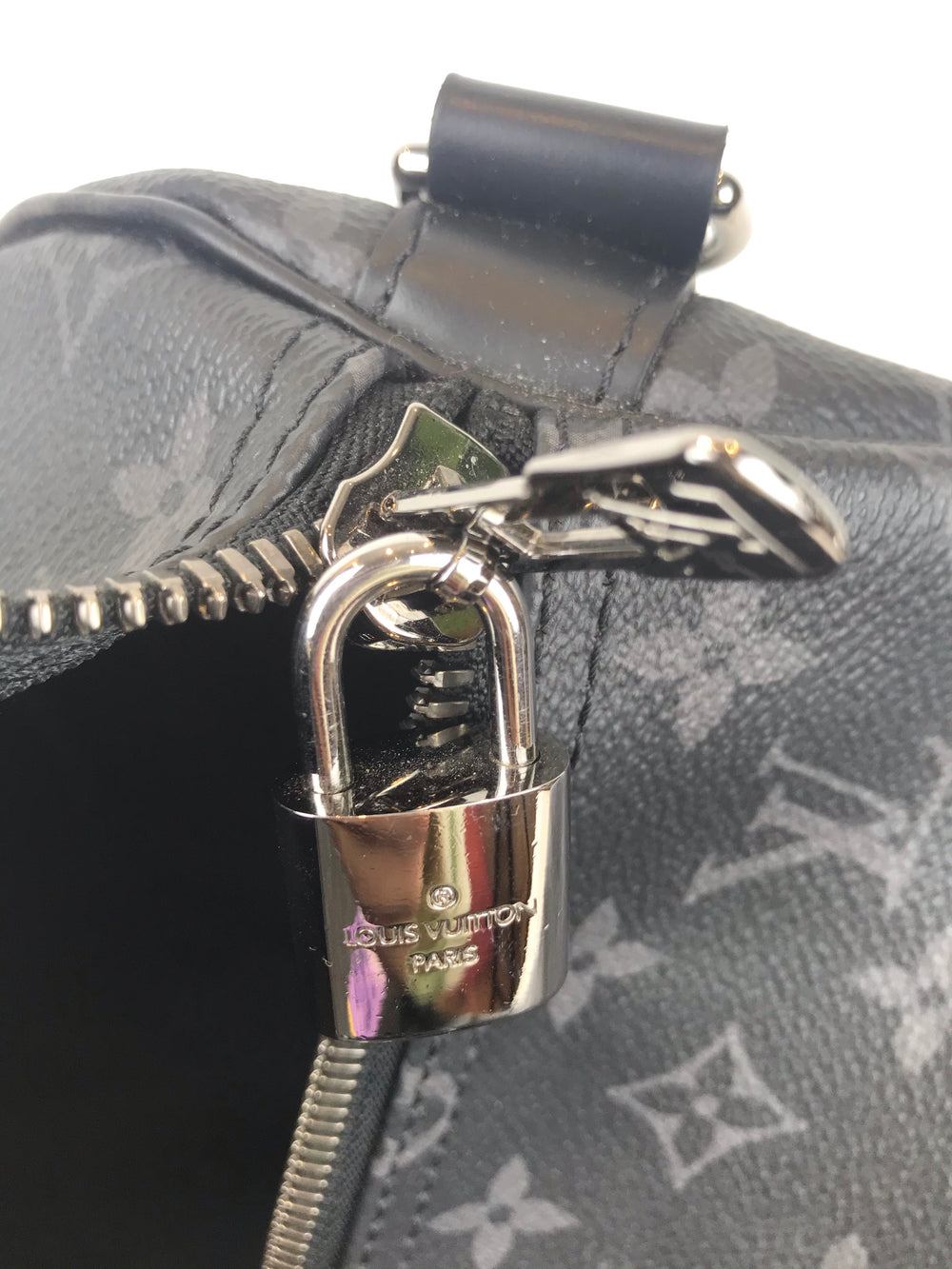 Louis Vuitton Black Monogram 'Keepall 55'