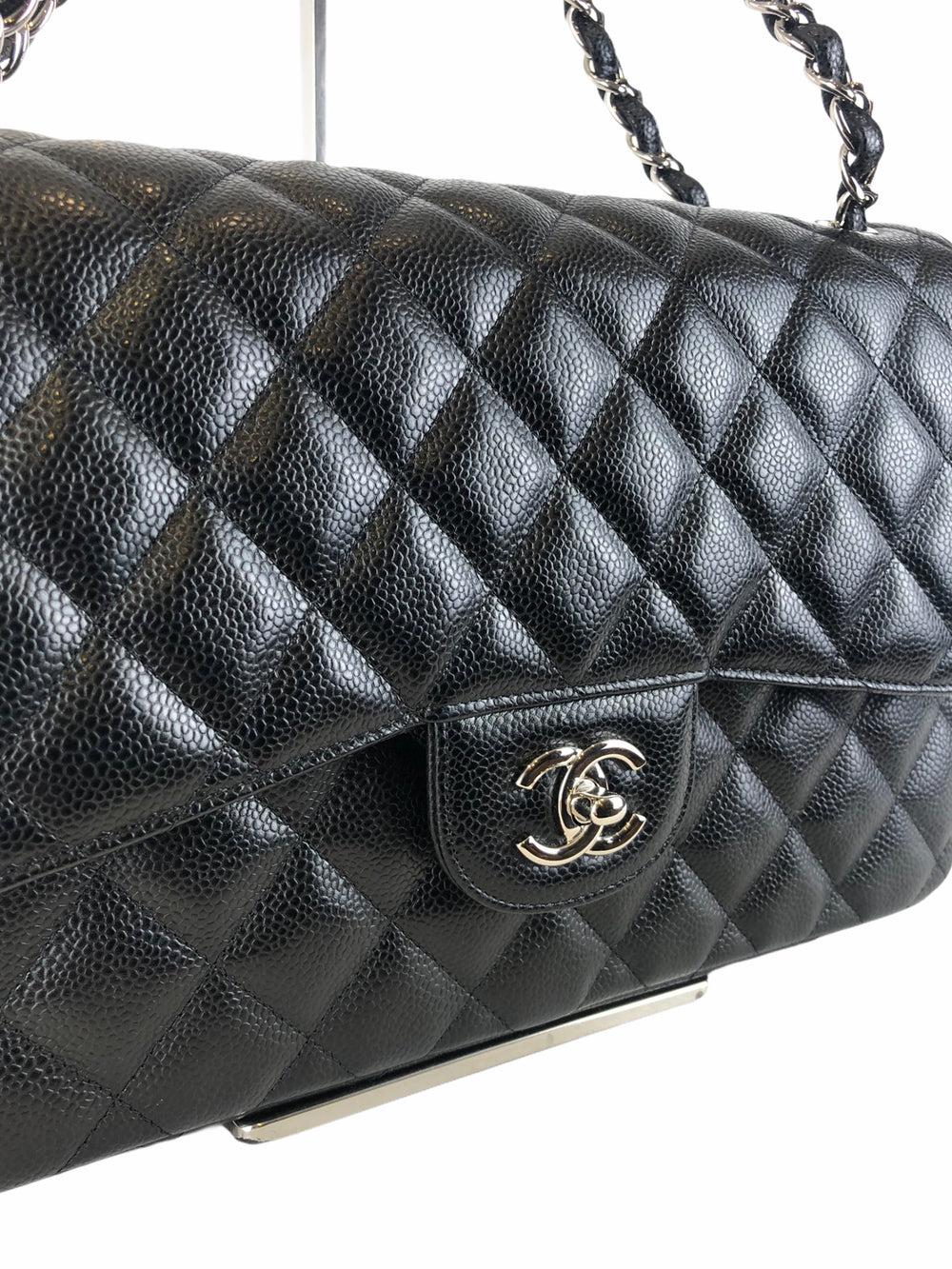 Chanel Black Caviar Leather