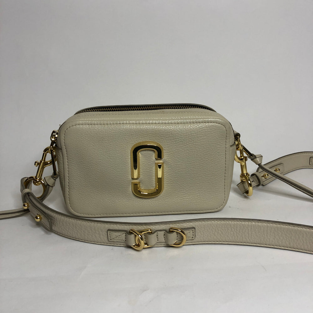 Marc Jacobs cream soft shot bag