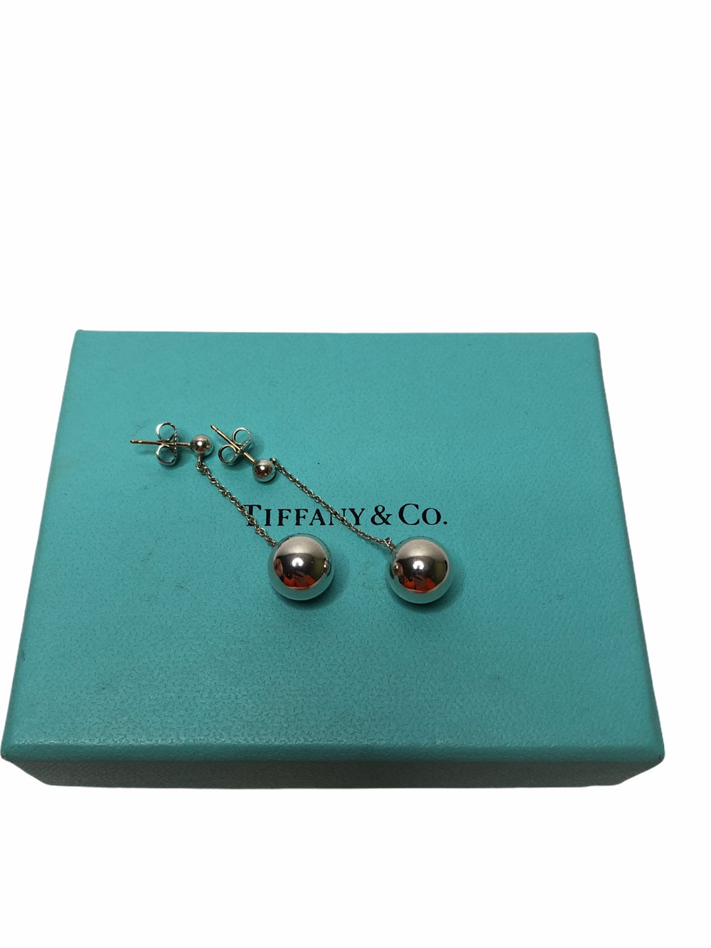 Tiffany & Co Sterling Silver Bauble Drop Earrings