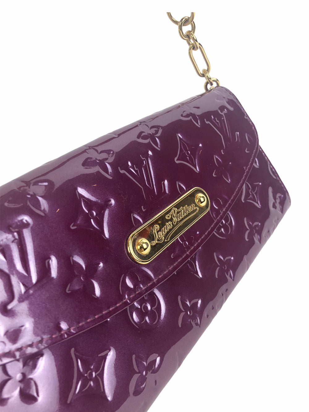 Louis Vuitton Purple Vernis Leather Pochette - As Seen on Instagram 18/10/2020