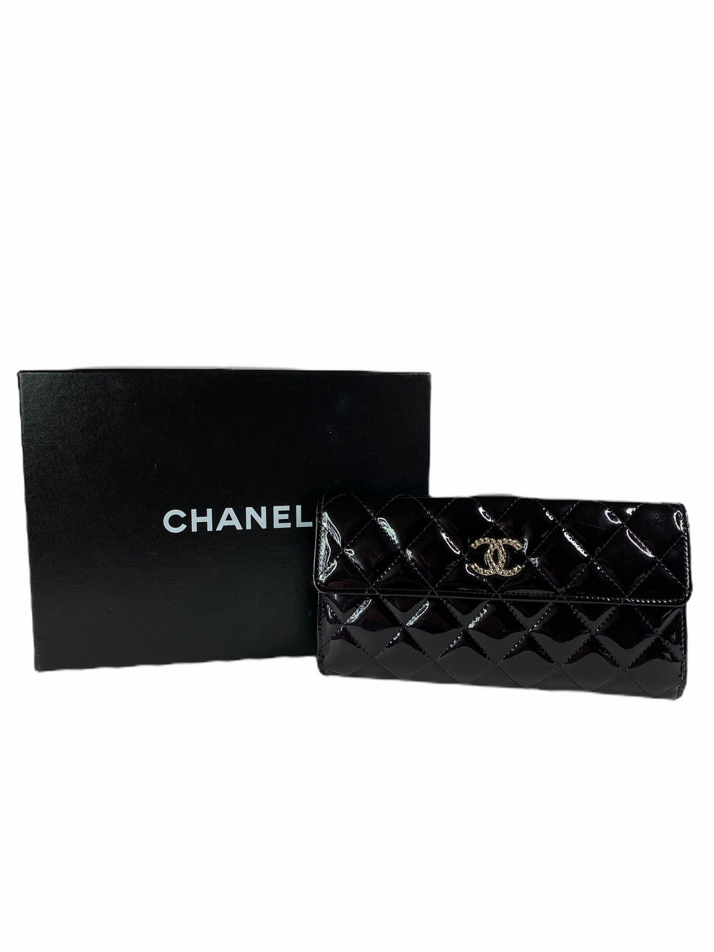 Chanel Black Patent Leather Purse