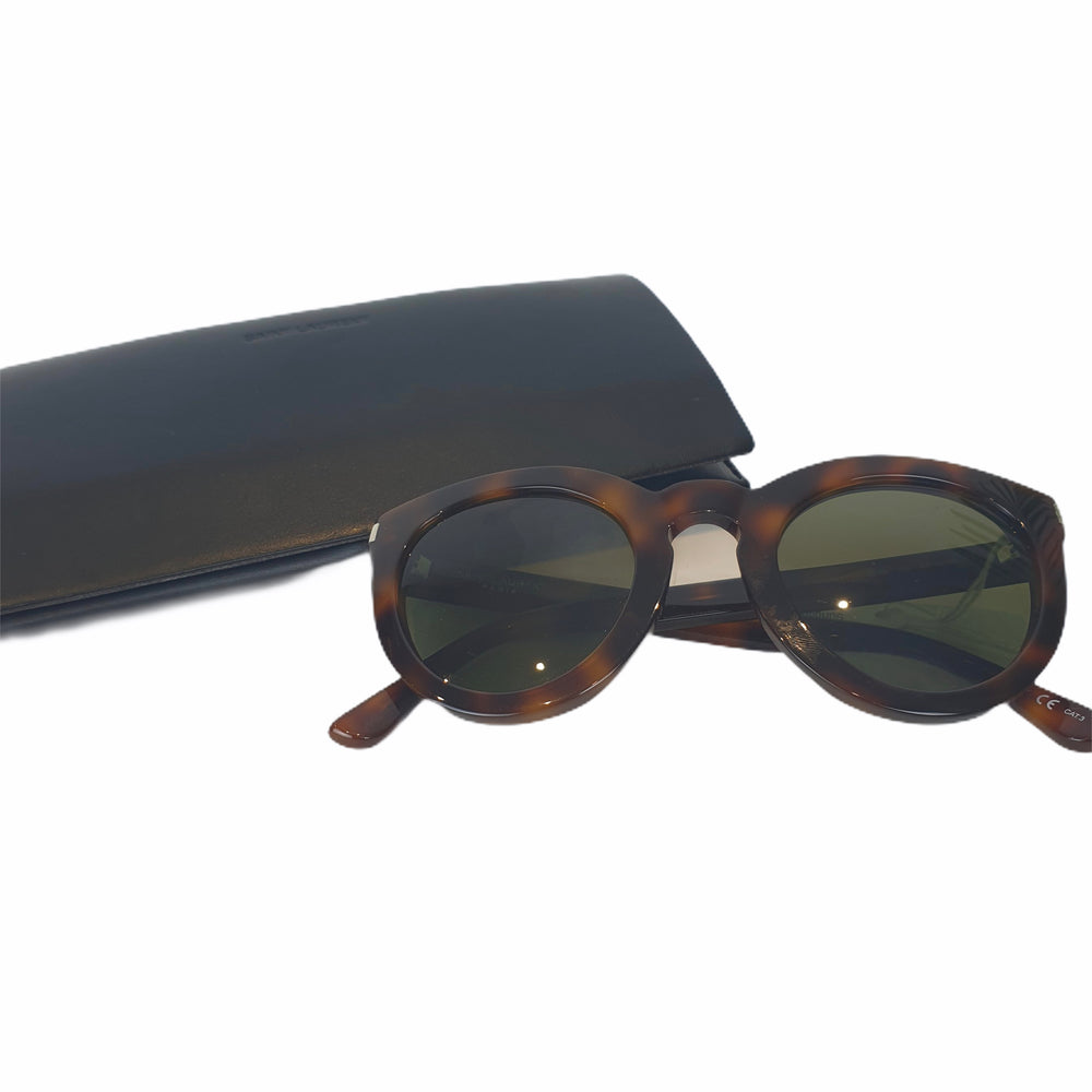 Saint Laurent Tortoise Shell Sunglasses - As seen on Instagram 2/08/20 - Siopaella Designer Exchange