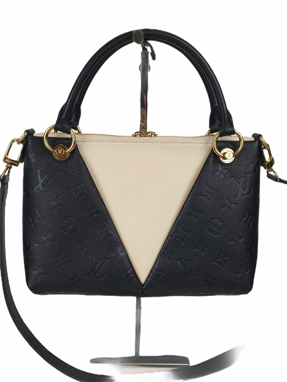 Louis Vuitton Cream and Black Leather