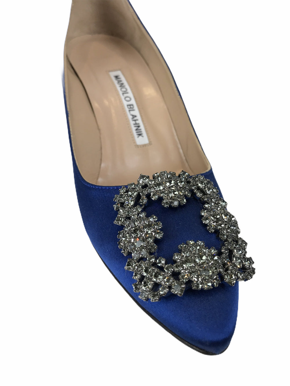 Manolo Blahnik Blue Satin Heels - UK 3.5