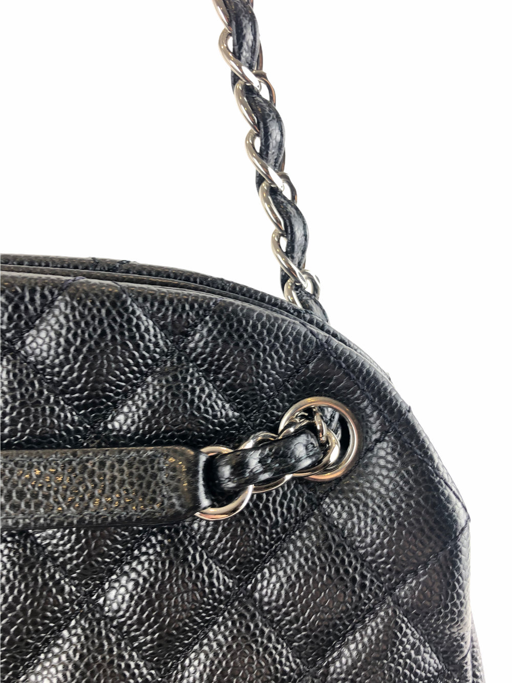 Chanel Black Caviar Leather Tote - As Seen on Instagram