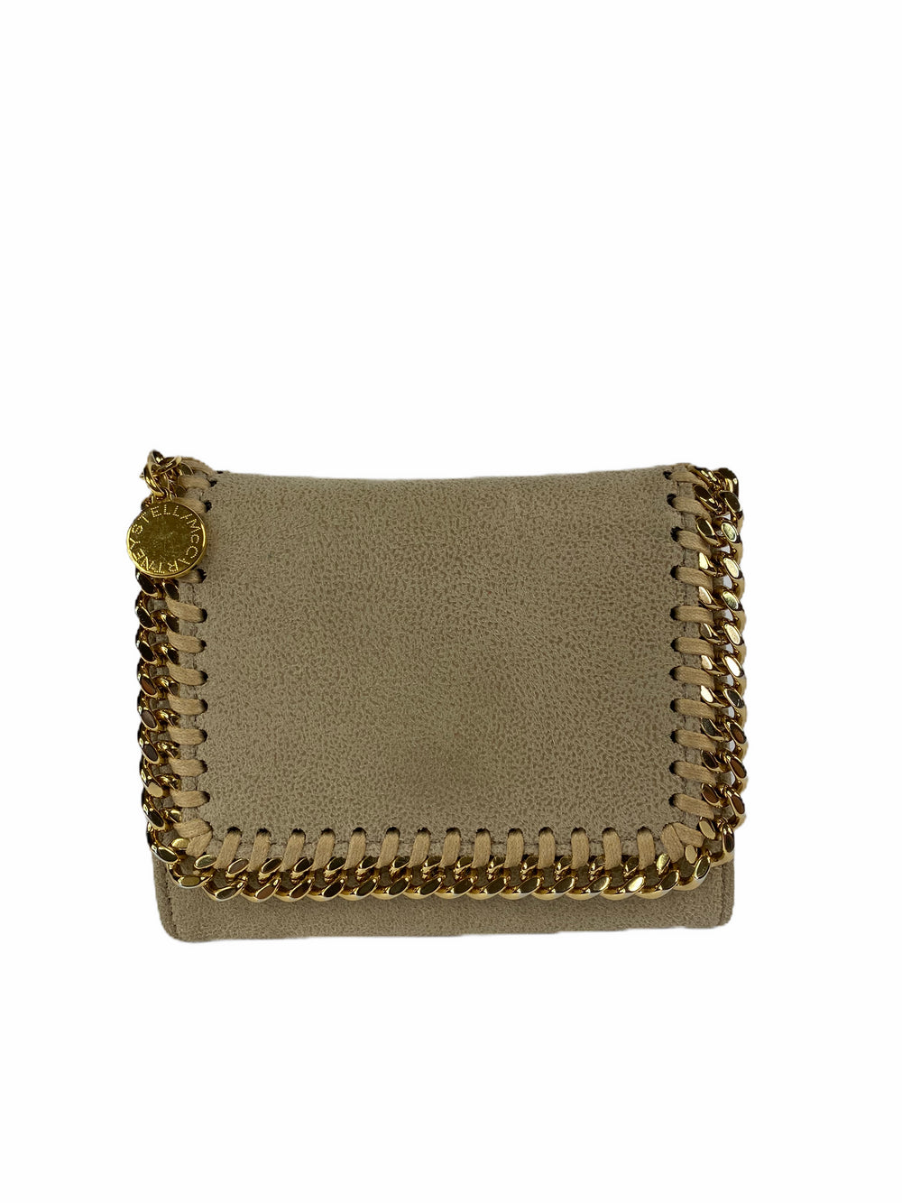 Stella McCartney taupe Falabella Wallet
