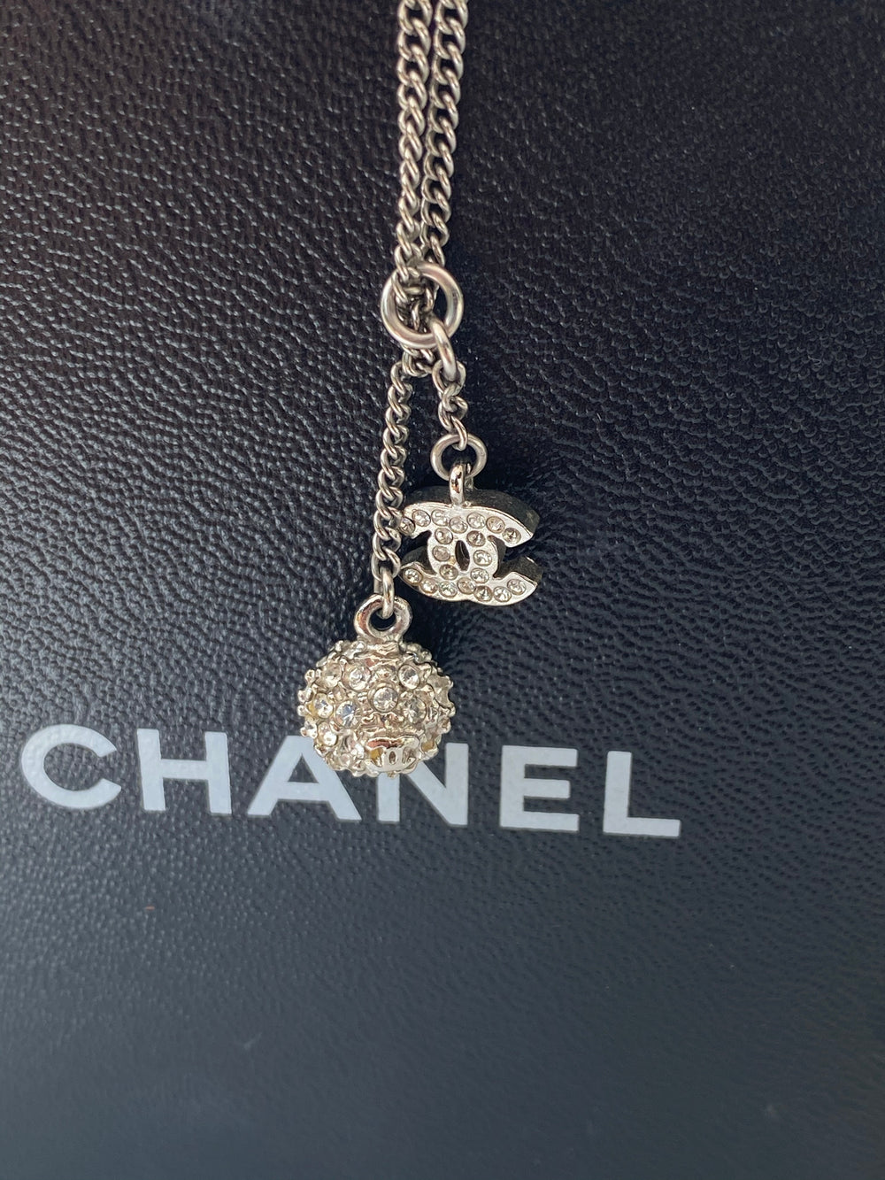 Chanel Crystal CC Necklace - As Seen on Instagram - Siopaella Designer Exchange