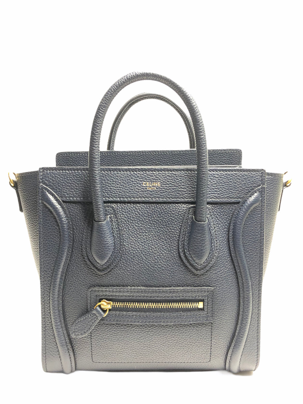 Celine Navy Leather Nano Luggage Crossbody - As Seen on Instagram 29/10/2020