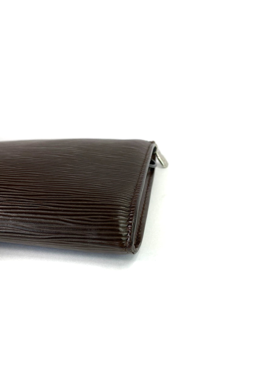 Louis Vuitton Brown Epi Leather Pochette - as seen on Instagram 22.07.2020 - Siopaella Designer Exchange