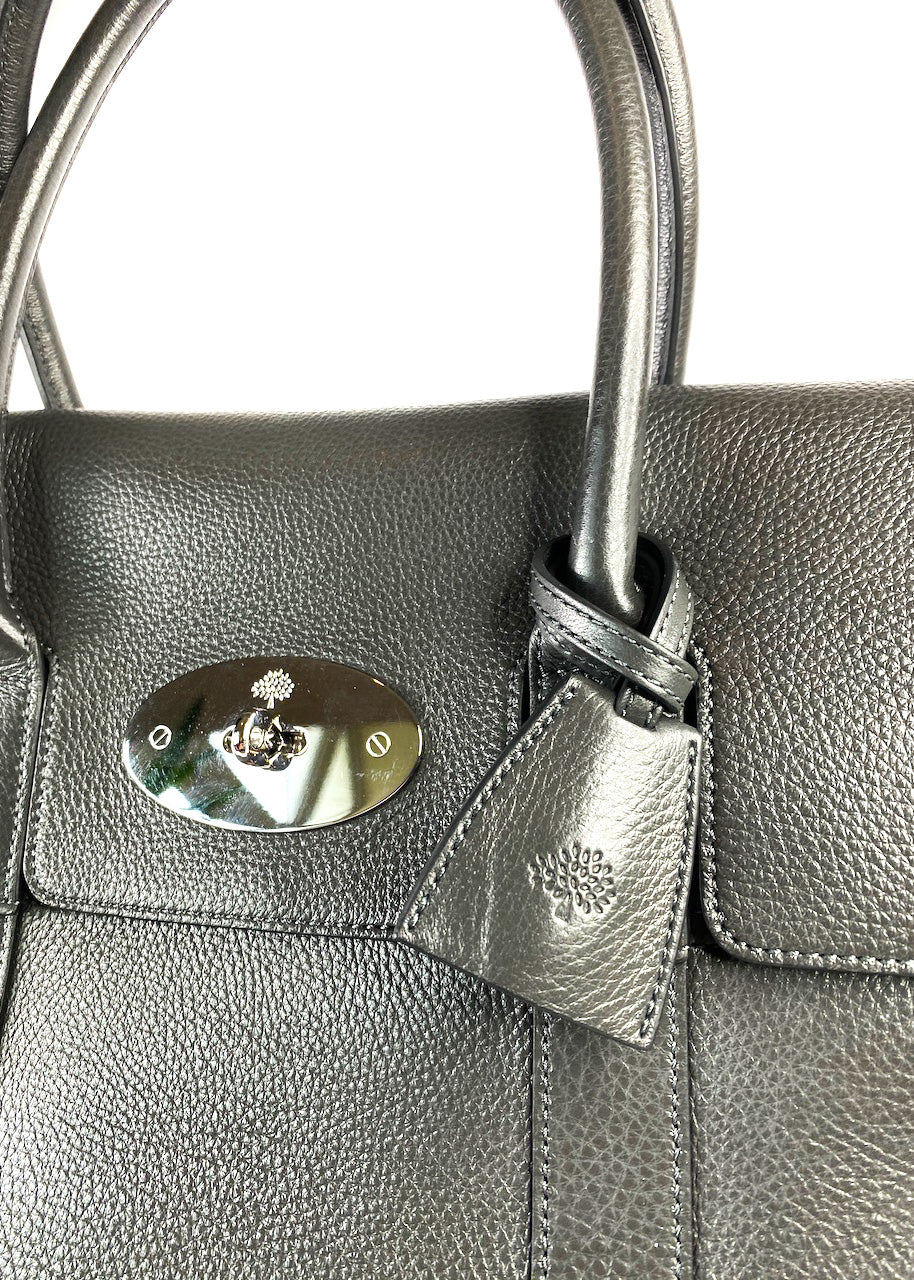 Mulberry Charcoal Bayswater Tote  - As Seen on Instagram 26.07.2020 - Siopaella Designer Exchange
