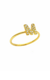 Single Initial Pavé Ring