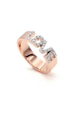 Pavé Custom Love Ring