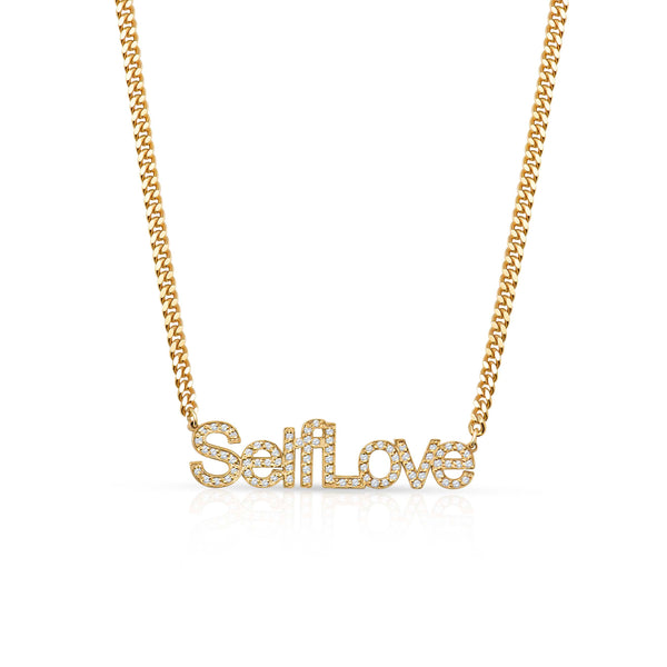 Self Love Pavé Custom Necklace