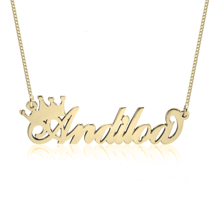 24K GOLD PLATED EMILY BAR NECKLACE