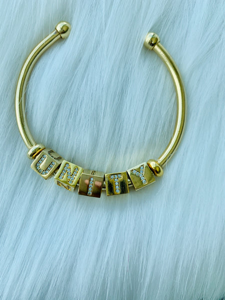 EYE LOVE YOU BIRTHSTONE BRACELET