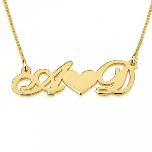 24K GOLD PLATED INITIAL LOVE NECKLACE
