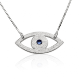 EYE LOVE YOU BIRTHSTONE NECKLACE