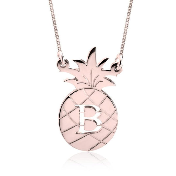 PINEAPPLE INITIAL NECKLACE