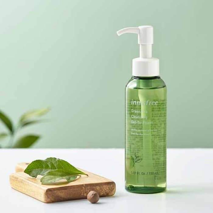 Innisfree Green Tea Cleansing Gel-To-Foam (150ml) - SaintLBeau