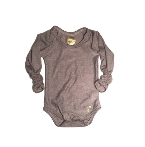 Urban Brown Long Sleeve with ruched cuff