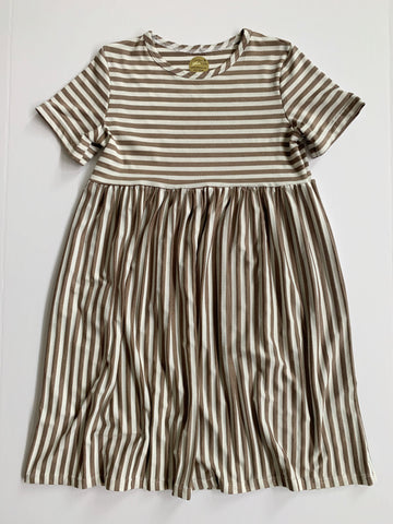 Everyday Dress: Brown Stripes