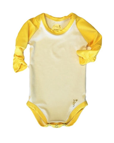 Ivory and Harvest Yellow Raglan RUCHED