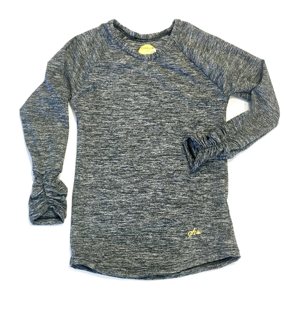 Charcoal Long Sleeve Shirt -for girls