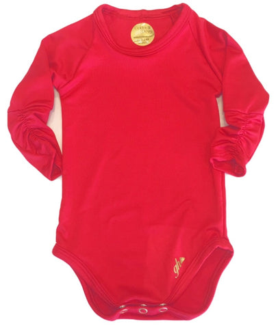 Red Hot Long Sleeve Bodysuit