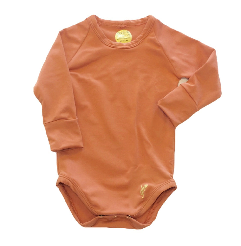 Rust Long Sleeve UNISEX bodysuit
