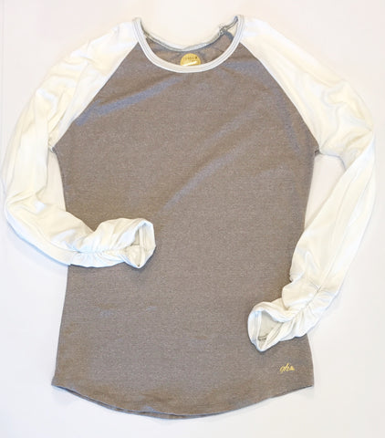 Urban Brown and Ivory Long Sleeve Raglan