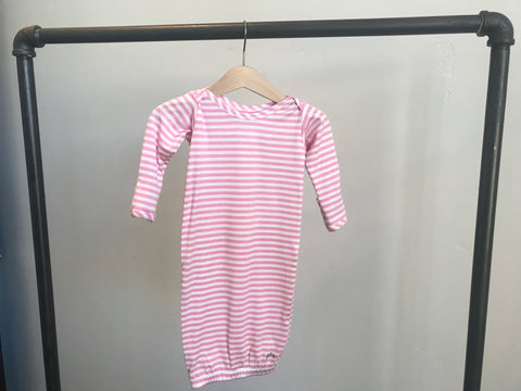 Baby J Sleeper:  Pink Stripes