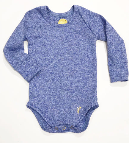 Powdered Blue (heather) UNISEX Long Sleeve bodysuit