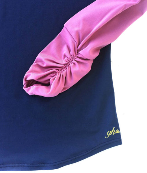 Navy and Rose Long Sleeve Raglan